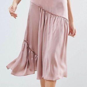 ASOS Asymmetrical satin skirt